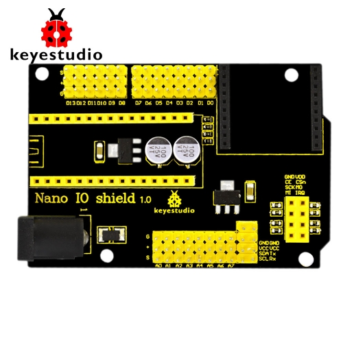 Free shipping! NEW Keyestudio Nano IO shield for XBEE and NRF24L01 Socket for arduino