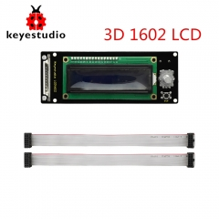 Keyestudio LCD1602 Display 3D Module With SD Card Slot + 30cm Cable For Arduino / 3D Printer
