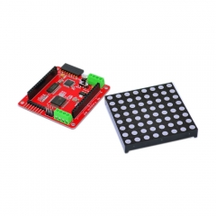Free shipping! 1PCS Full color 8 * 8 LED RGB matrix screen driver board + 1PCS RGB dot matrix for Arduino