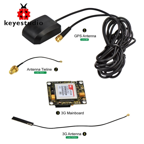 keyestudio SIM5320E 3G Module GSM GPRS GPS Modules for Arduino 51 AVR MCU