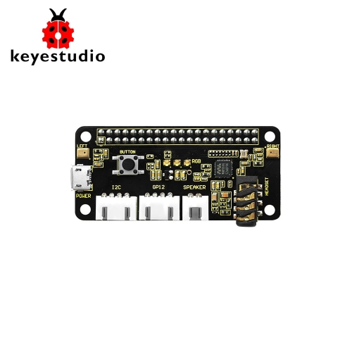 Keyestudio 5V ReSpeaker 2-Mic Pi HAT V1.0 Expansion Board For Raspberry Pi 4b  Zero / Zero W/B+
