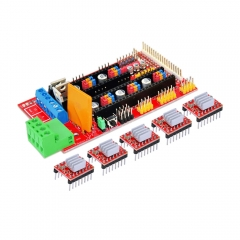 Free shipping! 3 D printer DIY kit (1 pcs RAMPS 1.4 +5pcs A4988 stepper dirve with Heatsink) for arduino!