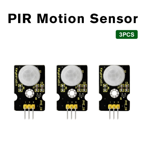 3PCS Keyestudio PIR Motion Sensor for Arduino UNO R3  IR Motion Sensor for Human Body Motion with Keyestudio Packing Box