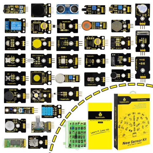 New Packing!Keyestudio37 in 1 Sensor Kit for Arduino Programming Education (37pcs Sensors)+37 Projects+PDF+Video