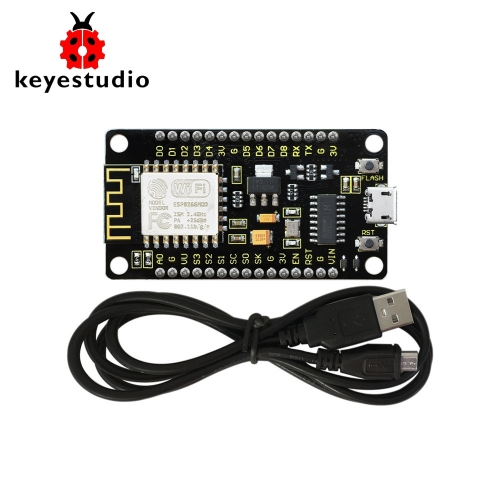 KEYESTUDIO ESP8266 ESP-12F CH340G WiFi Module Board for Arduino NodeMcu +1M USB Cable /Development Board  /Compatible with Networking