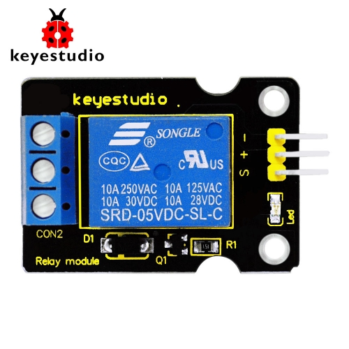 Free shipping! Keyestudio Single 5V  Relay Module Compatible with Arduino UNO R3 MEGA