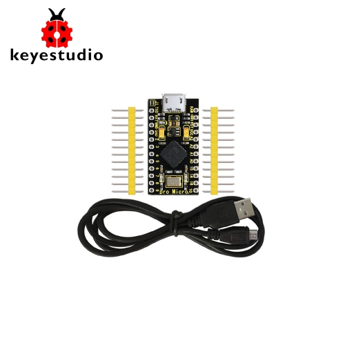 KEYESTUDIO PRO MICRO ATmega32U4 3.3V/16MHz Development Board  with 2 row pin header For Arduino Leonardo