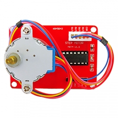 Free shipping ! keyestudio 5V stepper motor driver module + stepper motor for Arduino (red)