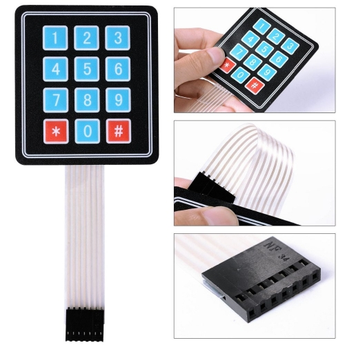3PCS/LOT 4*3 Matrix Array 12 Key Membrane Switch Keypad Keyboard/ 3*4 Control Panel Microprocessor Keyboard for Arduino AVR