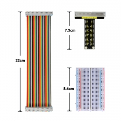 Free shipping!  KEYESTUDIO T type board+40P Colorful Ribbon Cable+400-hole Breadboard