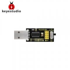 ESP-01S Wifi 모듈에 대한 Keyestudio USB 직렬 포트 실드 및 Arduino 용 ESP8266 무선 랜용 / Keyestudio USB to ESP01S Wifi Module Serial Port Shield (Black and Ecofriendly)