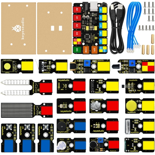 NEW! EASY-Plug Starter Learning kit for Arduino STEAM (21pcs Modules)