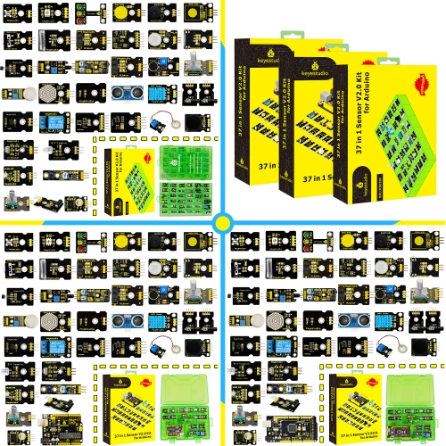 2019 NEW! keyestudio New Sensor Starter V2.0 Kit  37 in 1 Box for Arduino
