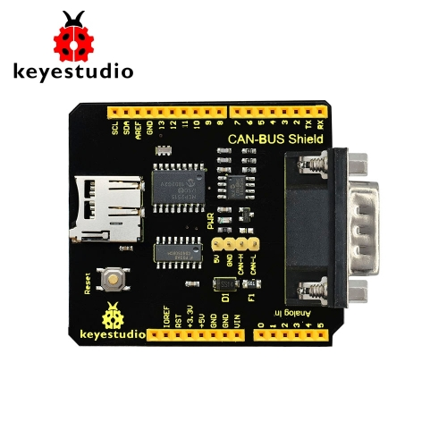 Keyestudio CAN-BUS Shield MCP2515 chip With SD Socket  For Arduino UNO R3