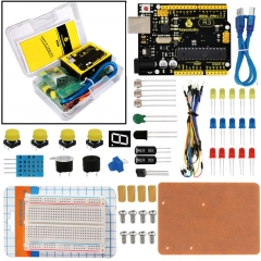 KEYESTUDIO R3 Breadboard kit For Arduino Education Project with dupont wire+LED+resistor+PDF