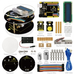 Keyestuido DIY Electronic Scale Starter Kit For Arduino Education Programming based on UNO R3 + 64 Page Book Manual