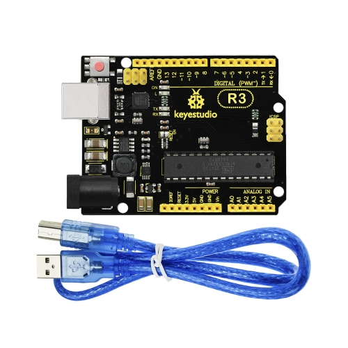 NEW! Keyestudio Super R3  ATmega 328 Board Advanced MP2307DNSOP-8 +USB Cable For Arduino DIY Project