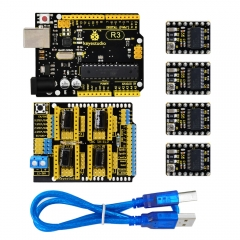 Keyestudio CNC kit for arduino CNC Shield V3+ R3+ 4pcs DRV8825 driver /GRBL compatible