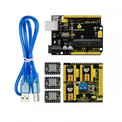 Free shipping! Keyestudio CNC KIT for arduino CNC Shield V2+UNO R3+3xA4988 GRBL compatible