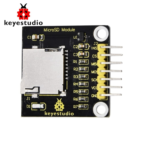 Keyestudio Mini Micro SD TF Card Memory Shield Module With Pins for Arduino