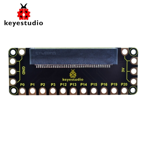 Edge Connectors RJ11 WS2812 RGB LED Switches Power Support Batteries//Micro USB//Headers 5v KEYESTUDIO Easy Plug Expansion Board V1 for BBC Micro:bit Breakout