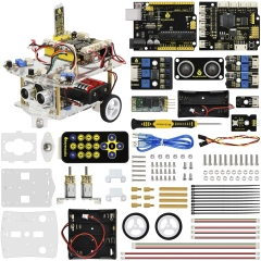 NEW!Keyestudio 2WD Desktop Mini  Robot  Smart Car V2.0 Kit For Arduino Robot Starter  STEM Four  Function(No Battery)