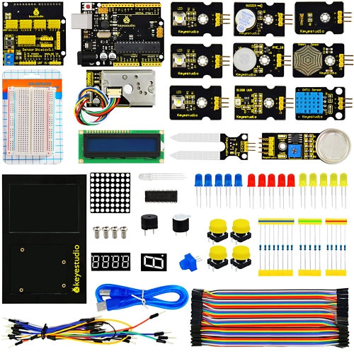 keyestudio Environment Monitoring PM2.5  Kit  for Arduino Education Starter With R3 board +V5