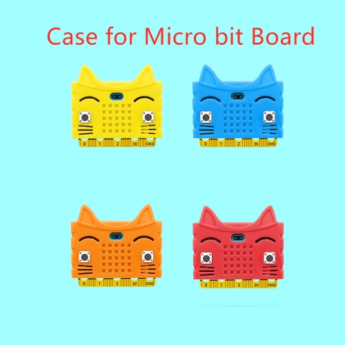 Hi-Q! Cute Cat shape Silicone protective enclosure cover shell  for micro:bit board(No Board)
