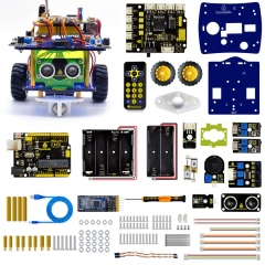 Keyestudio Desktop Mini Bluetooth Smart Robot Car Kit  V3.0 for Arduino Robot STEM/Support Mixly blocks coding