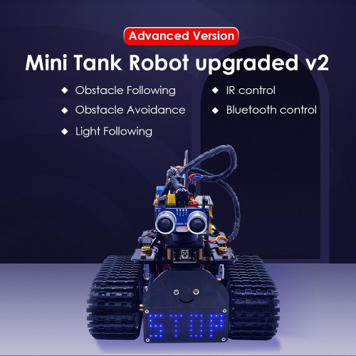 NEW! Keyestudio DIY Mini Tank V2.0 Smart Robot car kit for Arduino STEM