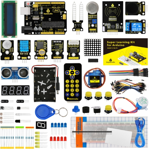 KEYESTUDIO Super Starter kit/Learning  Kit for Arduino  Education W/Gift Box+ 32 Projects +User Manual+PDF(online)
