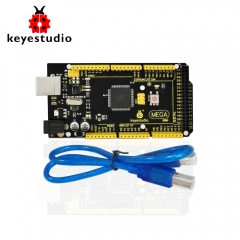 1Pcs Keyestudio MEGA 2560 R3  Development Board+ 1Pcs USB cable+Manual