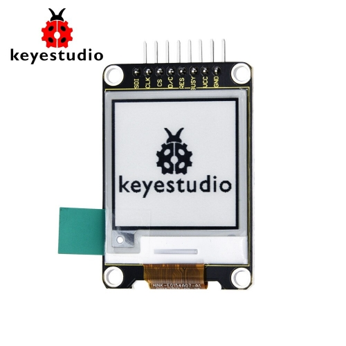 Keyestudio E-Ink Screen Display LCD Module 1.54 Inch 200*200 for Arduino(black and white)