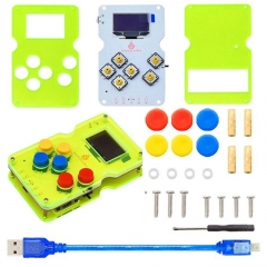 Keyestudio GAMEPI ATMEGA32U4 DIY Kit HandheldCon W/OLED  Game  Machine Console learning Starter Kit for Arduino(AAA battery)