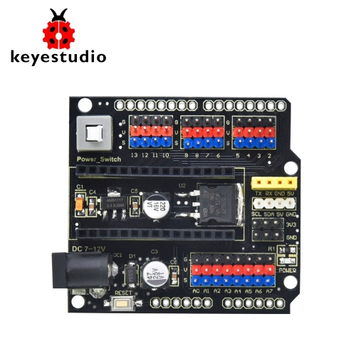 2020 NEW! Keyestudio NANO Shield  with DC port for arduino Nano3.0