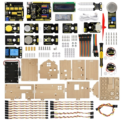 Keyestudio Smart Home Kit with PLUS Board for Arduino DIY STEM,Main products