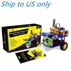 Free shipping to US !! Keyestudio Desktop Mini Bluetooth Smart Robot Car Kit  V3.0 for Arduino Robot STEM/Support Mixly blocks coding