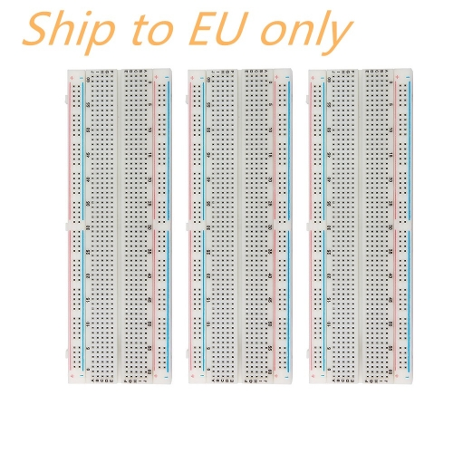 Free shipping to EU ! 3PCS HIGH QUALITY Breadboard 830 Point Solderless PCB Bread Board MB-102  For Arduino Proto Shield DIY