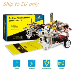 Free shipping to EU!! Keyestudio 2WD Desktop Mini  Robot  Smart Car V2.0 Kit For Arduino Robot Starter  STEM Four  Function(No Battery)