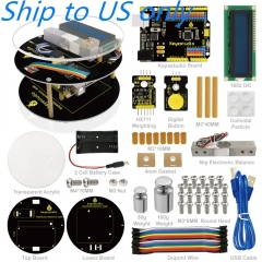 Free Shipping to US !! Keyestuido DIY Electronic Scale Starter Kit For Arduino Education Programming based on UNO R3 + 64 Page Book Manual