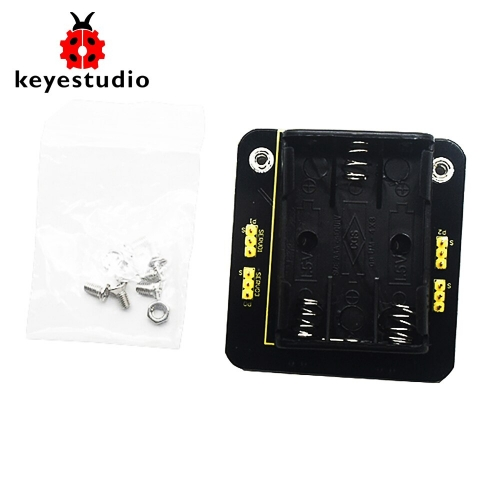 Keyestudio Micro bit Mini Servo  Shield  with Battery holder For  Microbit Robot  Car(No Micro bit Board)