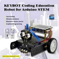 Keyestudio KEYBOT Programmable Education Robot Car Kit + User Manual For Arduino  Graphical Programming