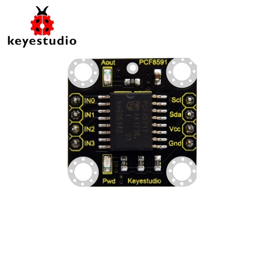 Keyestudio PCF8591 A/D Adapter Module for Raspberry Pi 4B Projects