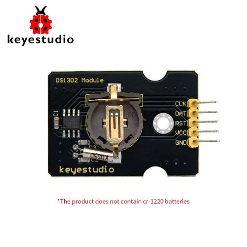 Keyestudio DS1302 Clock Module For Arduino Diy Starter Kit(Battery type is CR1220 )