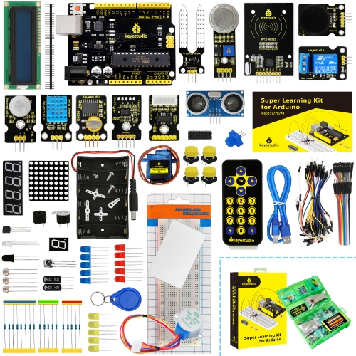 KEYESTUDIO Super Starter kit/Learning  Kit for Arduino  Education W/Gift Box+ 32 Projects
