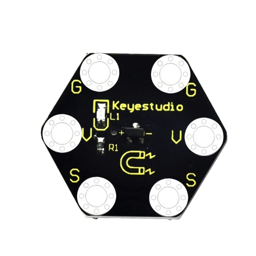 Keyestudio Micro bit Honeycomb Hall Magnetic Sensor (Black and Eco-friendly)