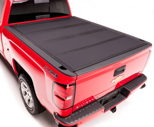 SYPPO For 2014-2019 Chevy Silverado 1500/ GMC Sierra 1500 6.6FT Bed Hard Tonneau Cover Flat Style with Rails