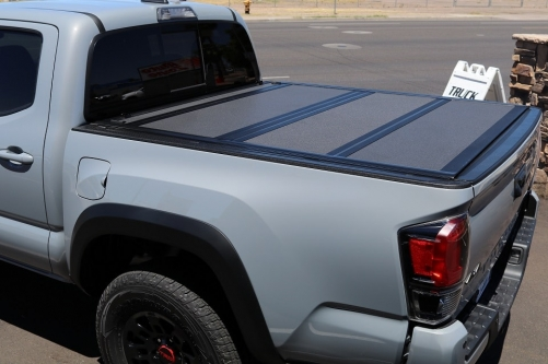 SYPPO For 2016-2019 Toyota Tacoma 6FT Bed Hard Tonneau Cover Flat Style with Rails