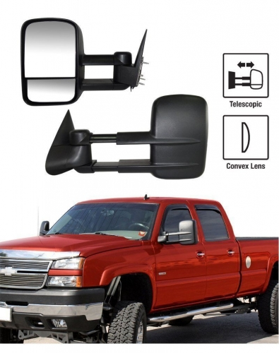For 88-98 Chevy GMC C/K Pickup Suburban Tahoe Yukon Manual Towing Mirrors