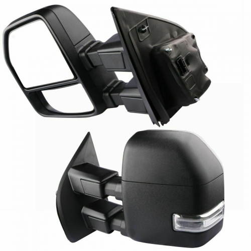 For 2015+ Ford F250 Tow Mirrors Power Heated w/ TurnSignal/Park/Spot/Puddle lamp